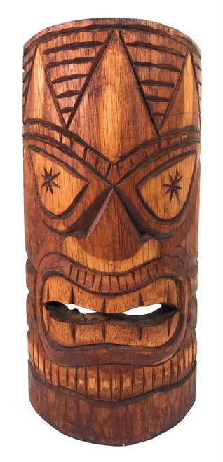 "Lucky Tiki Mask 12"" - Antique Finish hand Carved 