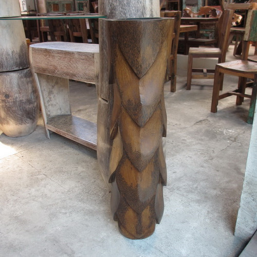 "Architectural Diamond Shape Pot - 48"" - Carved Out Trunk"