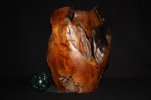 "Wooden Teak Root Jar 20"" X 15"" - Architectural Home Decor"