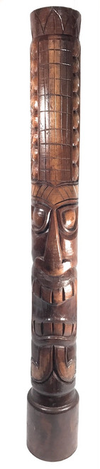 "Money Tiki Totem 60"" Antique Finish - Hand Carved 