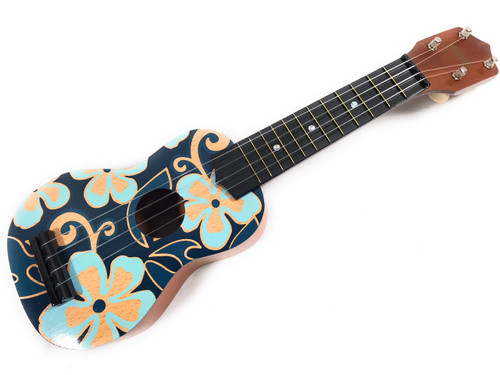 "Ukulele - Blue and Yellow Hibiscus Aloha Floral Print 18"" | #kc41027"