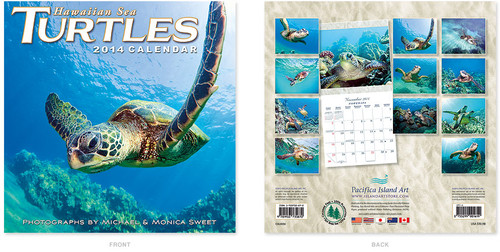 Wall Calendar 2014 - Hawaiian Sea Turtles