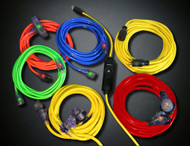 50' Yellow Extension Cord - Triple Tap