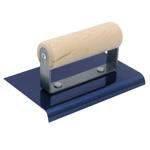 "6"" x 3"" Blue Steel Wood Hdl. Edger; 3/8R - 1/2L"