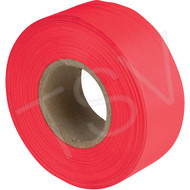 "Red Glow Flag Tape 1"" x 150'"