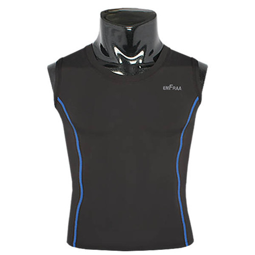 emfraa compression skin tight base layer sleeve less black