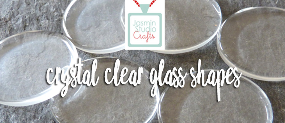 Crystal Clear Glass Cabochons