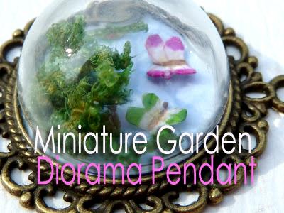 Miniature Garden Diorama Pendant