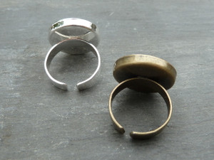 Ring Blanks with 20mm bezel cup