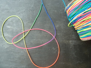 Thin Multicoloured Elastic Cord 1mm