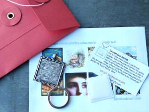 Photo Keyring Mini Kit (Square)