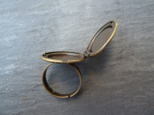 Antique Bronze Locket Rings