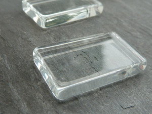 Crystal Clear Glass Rectangle Tiles 18x30mm