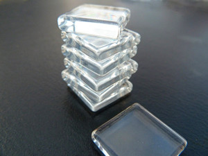 Crystal Clear Square Glass Tiles 16x16mm