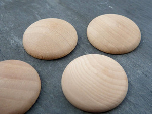 Domed Wooden Circles 25mm (1 inch)
