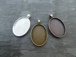 22x30mm Oval Pendant Trays