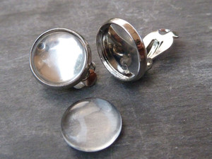 Earclip Blanks with 12mm Bezel
