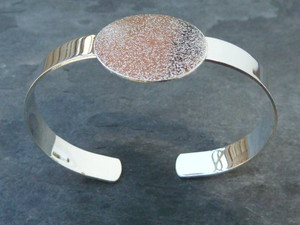 Silver Plated Bangle with 25mm Pad