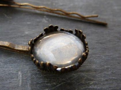 Vintage Style Hair Pins 15mm Bezel