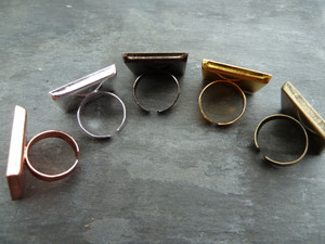 Square Ring Blanks 25mm