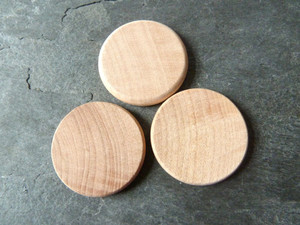 Wooden Circle Tiles 1 inch (25.4mm)