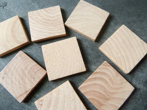 Wooden Square Tiles 1 inch (25.4mm)