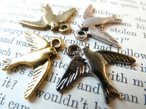 Bird in Flight Charms