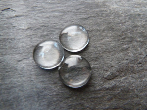 Crystal Clear Domed Round Glass Cabochons 10mm