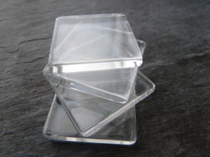 Crystal Clear Square Glass Tiles 25x25mm