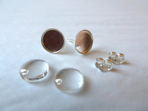 Sterling Silver Earstuds - Round 12mm Cup