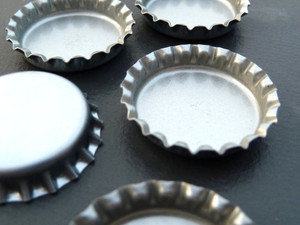 Flattened Bottle Caps - Perfect for Magnets!