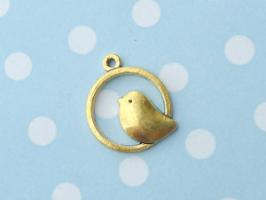 Bird on a Ring Charms