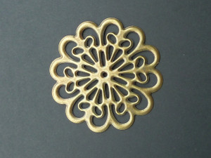 Large Round Bronze filigree