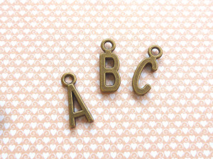 Bronze Letter Charms