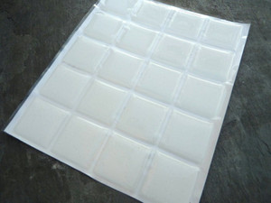 Clear Square Epoxy Stickers 25.4mm/1inch