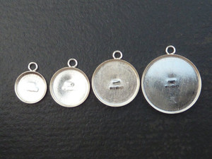 Sterling Silver Charm or Pendant Blanks - many sizes!