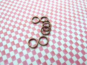 Jump Rings Vintage Copper 7x1mm