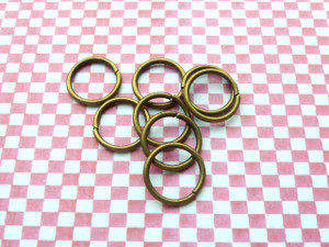 Jump Rings Antique Bronze 12x1mm