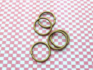 Jump Rings Antique Bronze 16x1mm