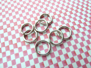 Jump Rings Antique Silver 10x2mm