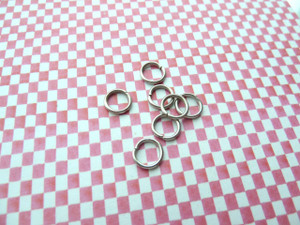 Jump Rings Antique Silver 8x1mm