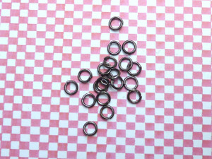 Jump Rings Gunmetal Black 5x0.8mm