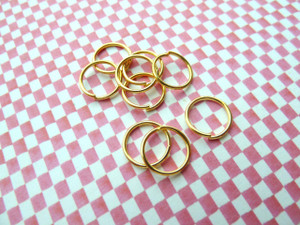 Jump Rings Gold 10x0.9mm