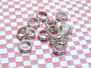Jump Rings Silver D-Wire 6.5x2mm