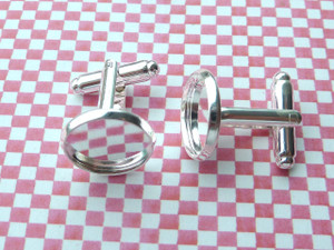 Shallow Cufflinks with 14mm Round Cup