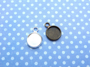 Shallow Round Charm Blanks - 10mm
