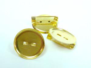 Concave Brooch Bowls 17mm