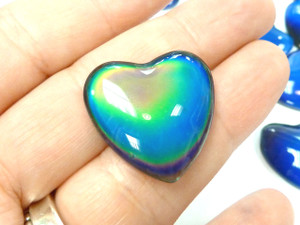 Colour-Changing Mood Cabochons - Hearts 24mm