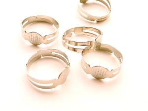 Pad rings antique silver - medium