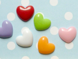 Heart Cabochons 15mm
